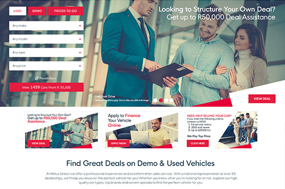 If you're looking at buying a demo car, you should go with someone you can trust.
