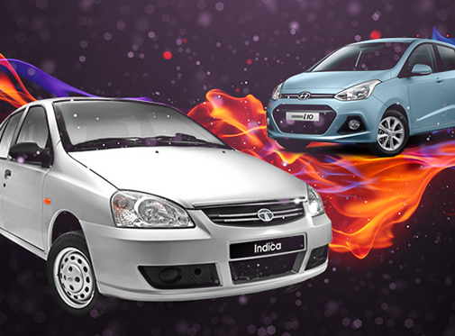 Hot Hatch Wars TATA INDICA VS HYUNDAI i10