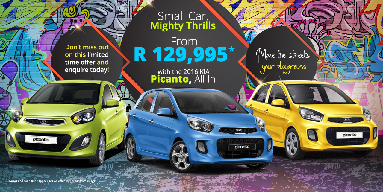 The 2016 KIA Picanto - Small Car, Mighty Thrills - From R129,995