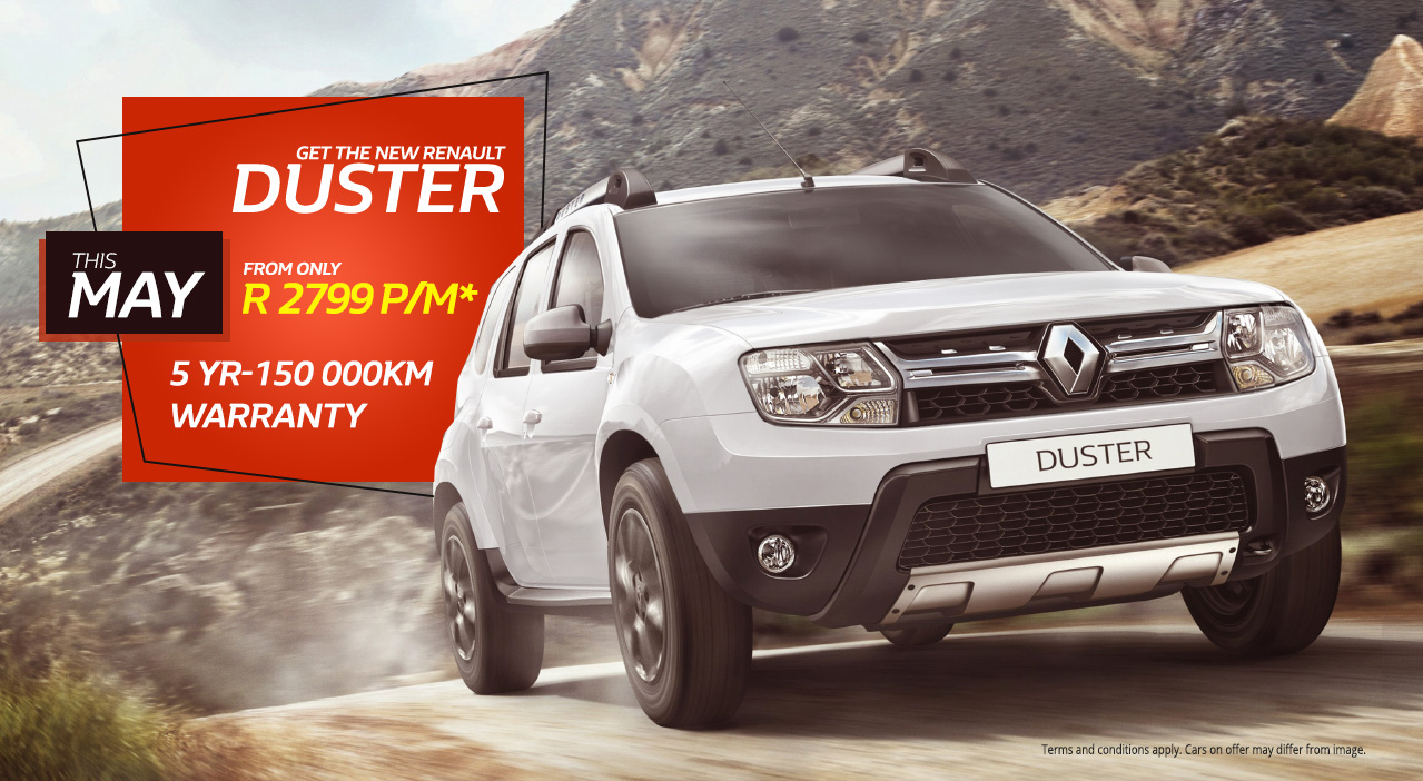 Get the New Duster this May from only R2,799 pm