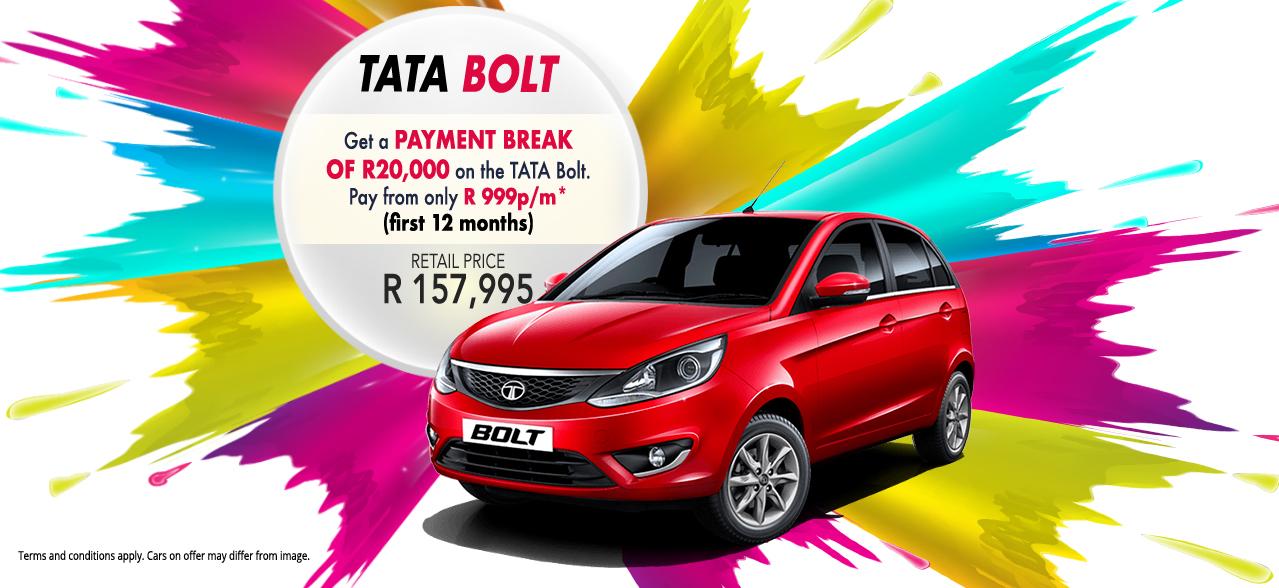 Get R20,000 cash back with TATA Bolt