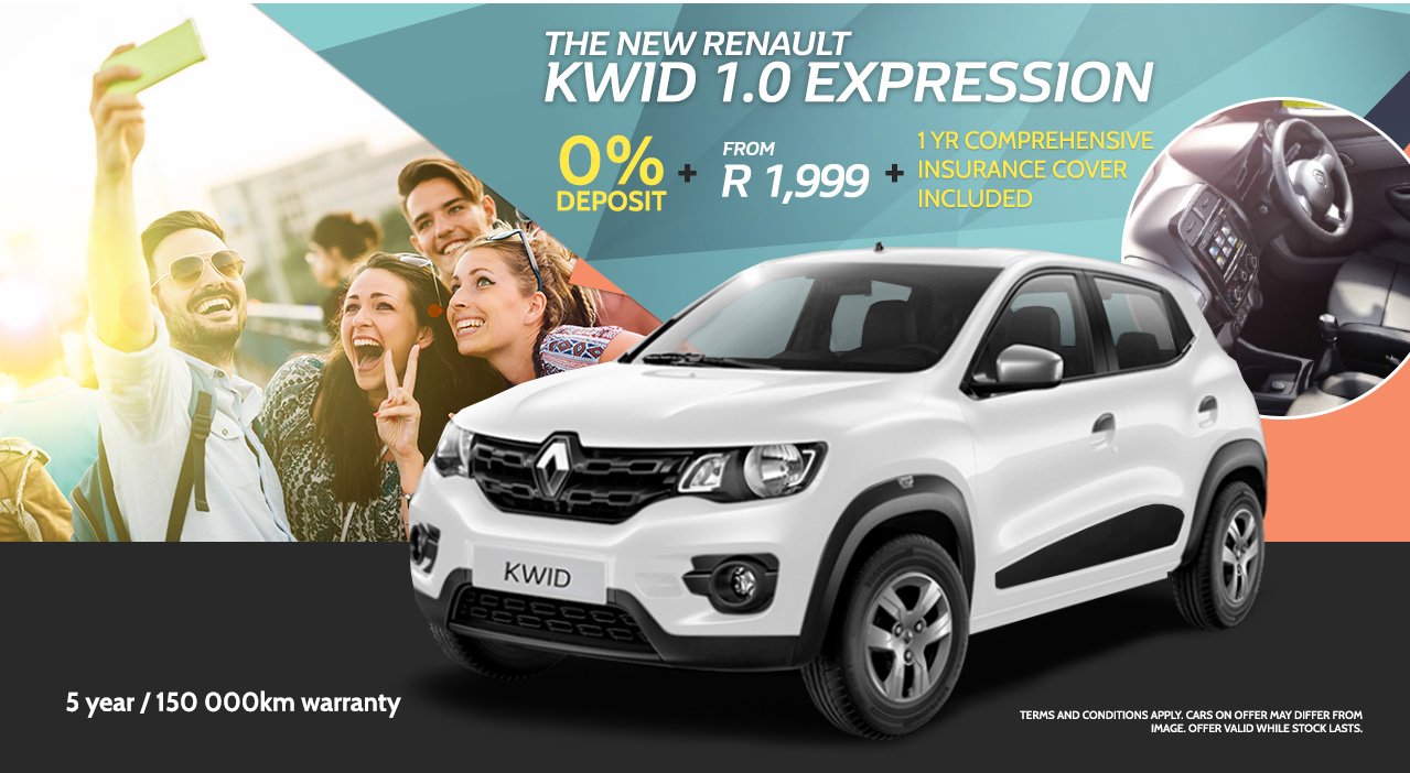 The New Renault Kwid 1.0 Expression from only R1,999 pm