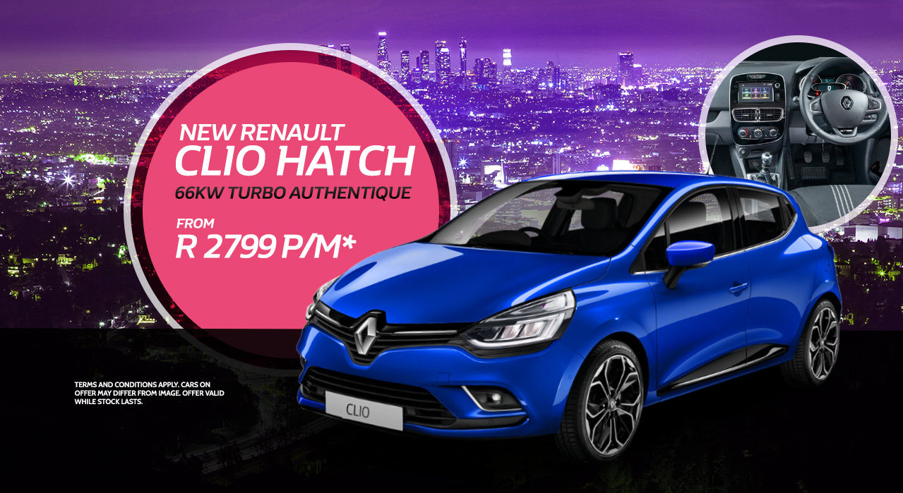New Renault Clio Hatch from R2,799 pm