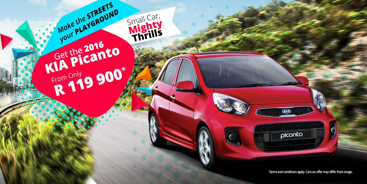 The 2016 KIA Picanto - Small Car, Mighty Thrills - From R119,900