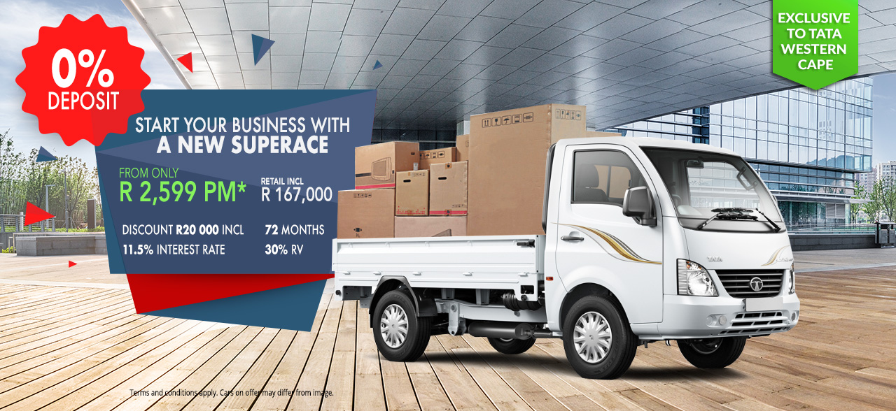 Start your business with a New SuperAce from only R2599 pm, No Deposit required