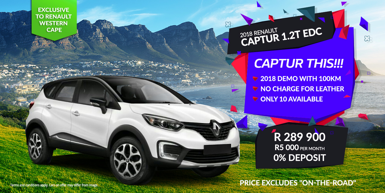 CAPTUR THIS!!! 2018 Demo with 100km from R5000 p/m