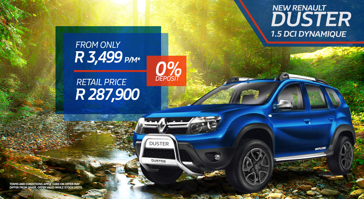 The New Renault Duster 1.5 DCI Dynamique from R3499 p/m