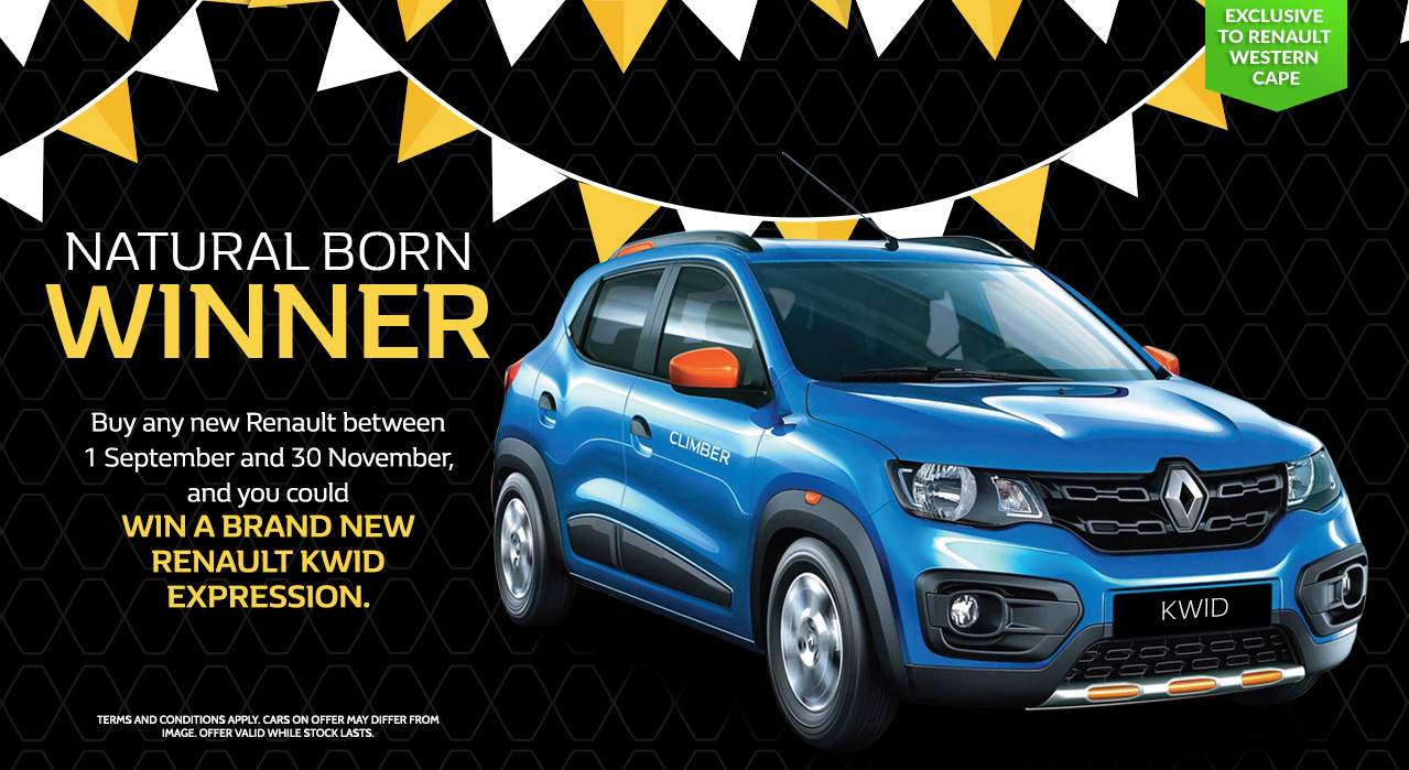 Buy a NEW RENAULT and stand a change to win a KWID EXPRESSION
