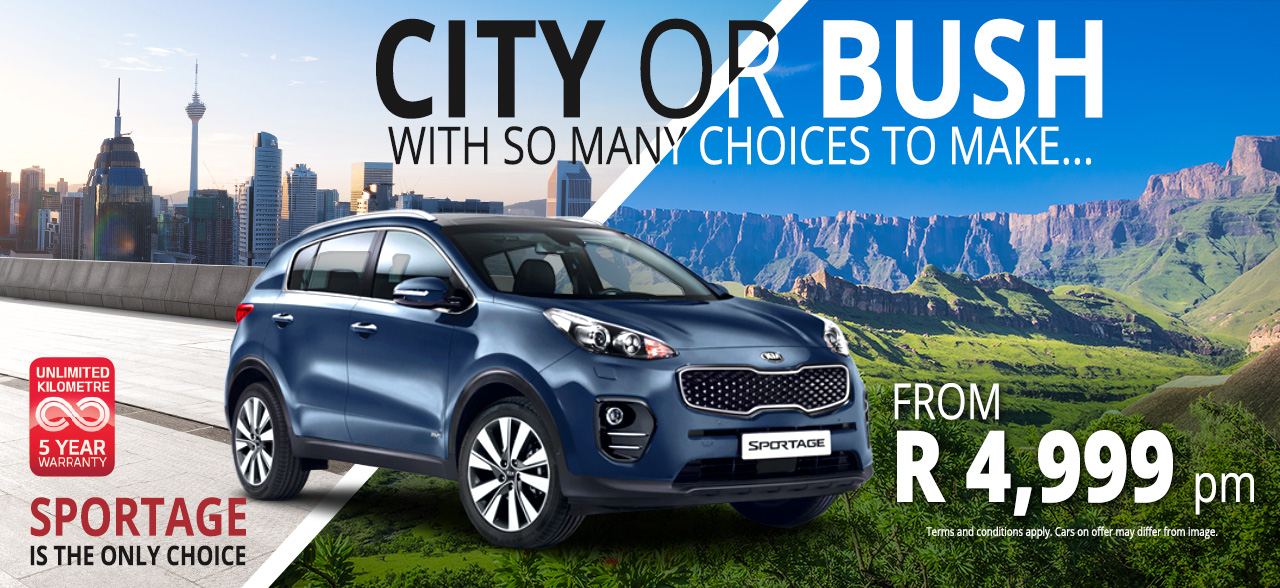 City or Bush, The KIA Sportage is the Only Choice!