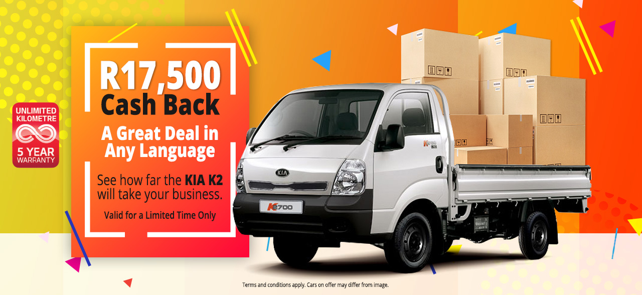 See how far the KIA K2 will take your business. R17,500 Cash Back. A Great Deal in Any Language