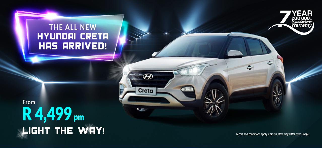 The All New Hyundai Creta Has Arrived! From R4,499 p/m