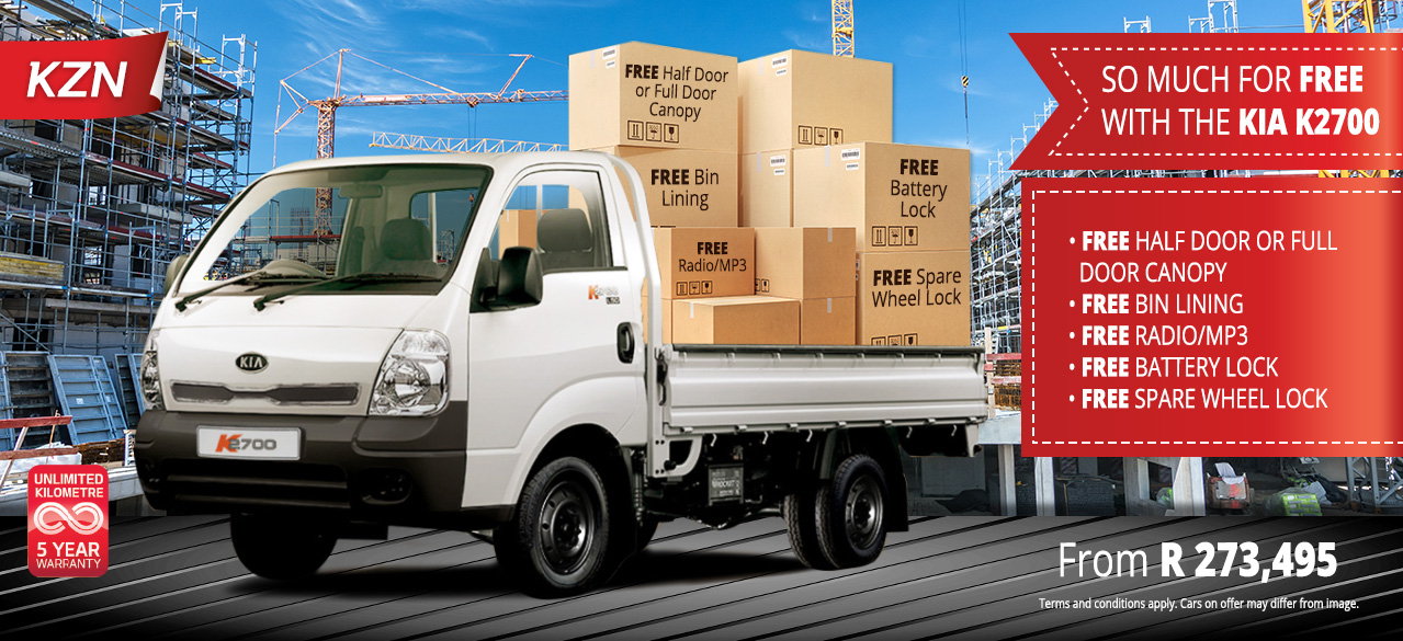 SO much for FREE with the KIA K2700 From R273,495*