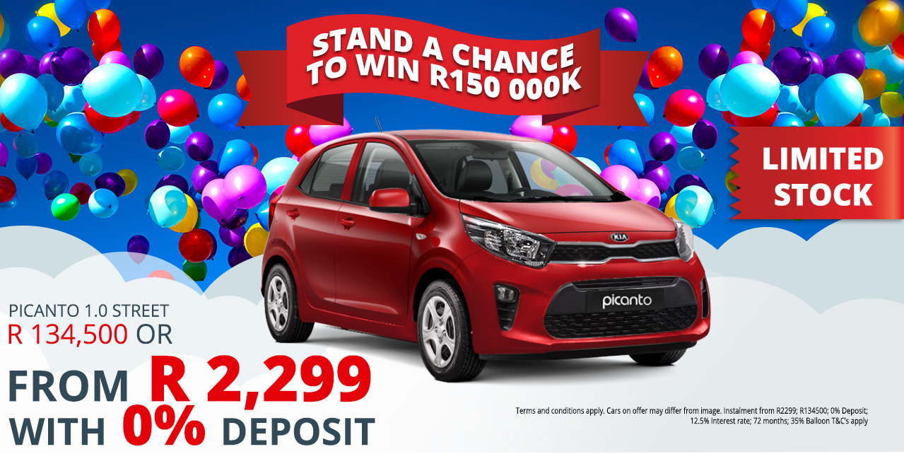 Get a 2017 Kia Picanto 1.0 Street, FROM Only R134 500.00 incl.