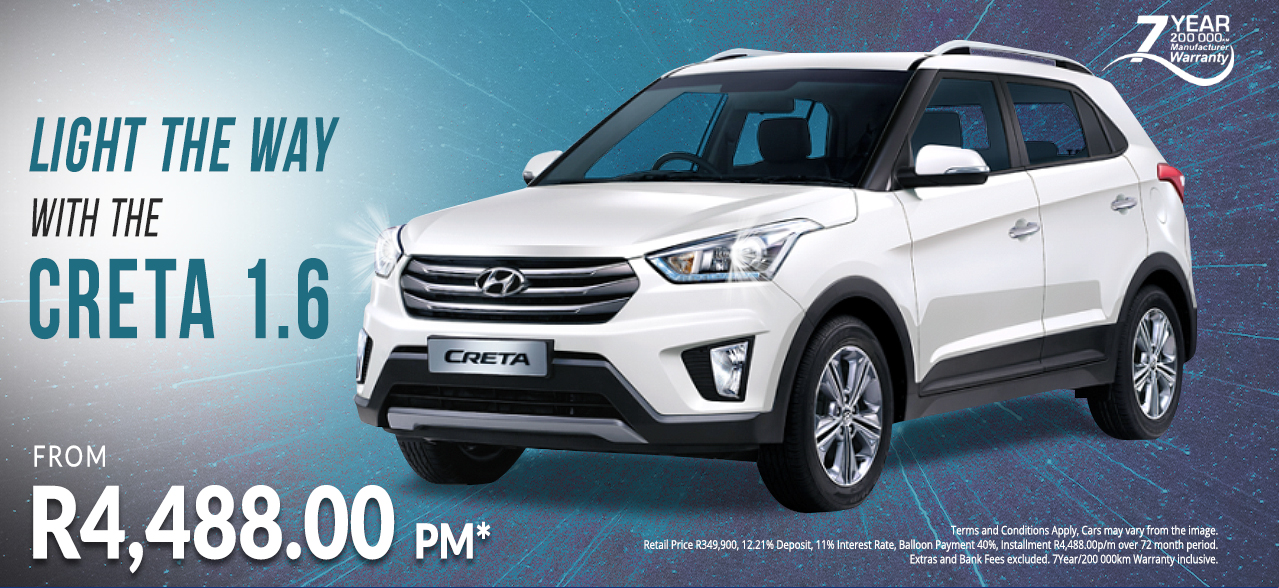 Light the Way with the New Creta from R4,488 p/m