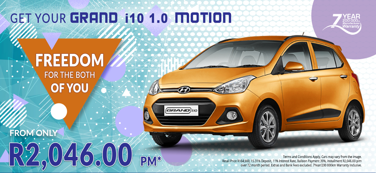 Freedom for Both - Grand i10 1.0 Motion from R2,046 pm