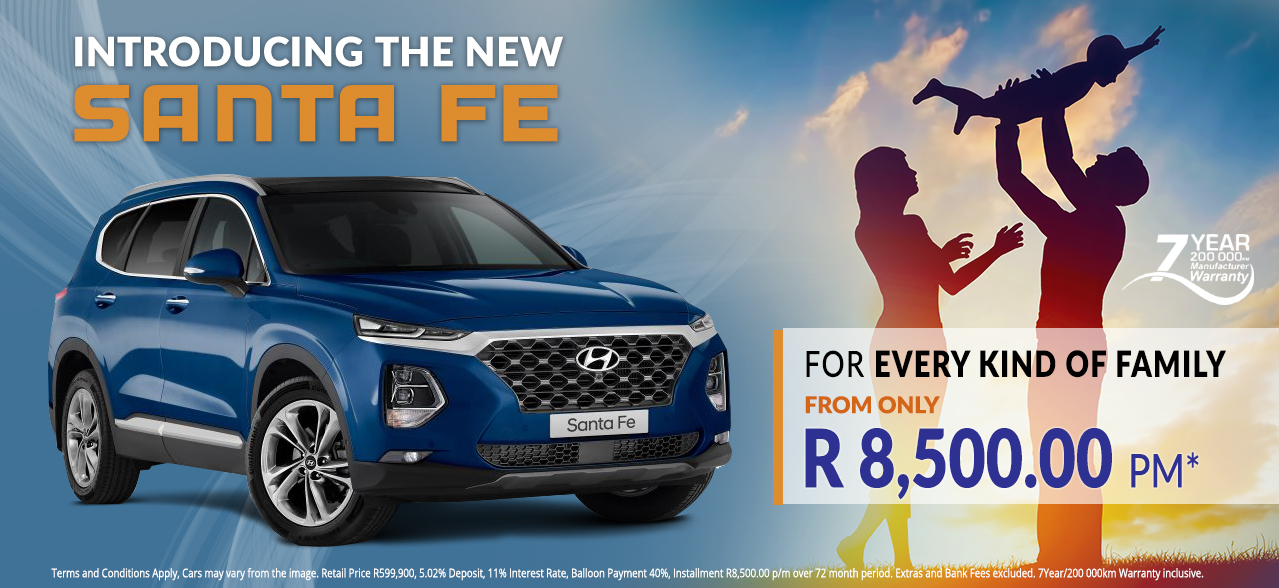 The new Santa Fe from R8,500 pm