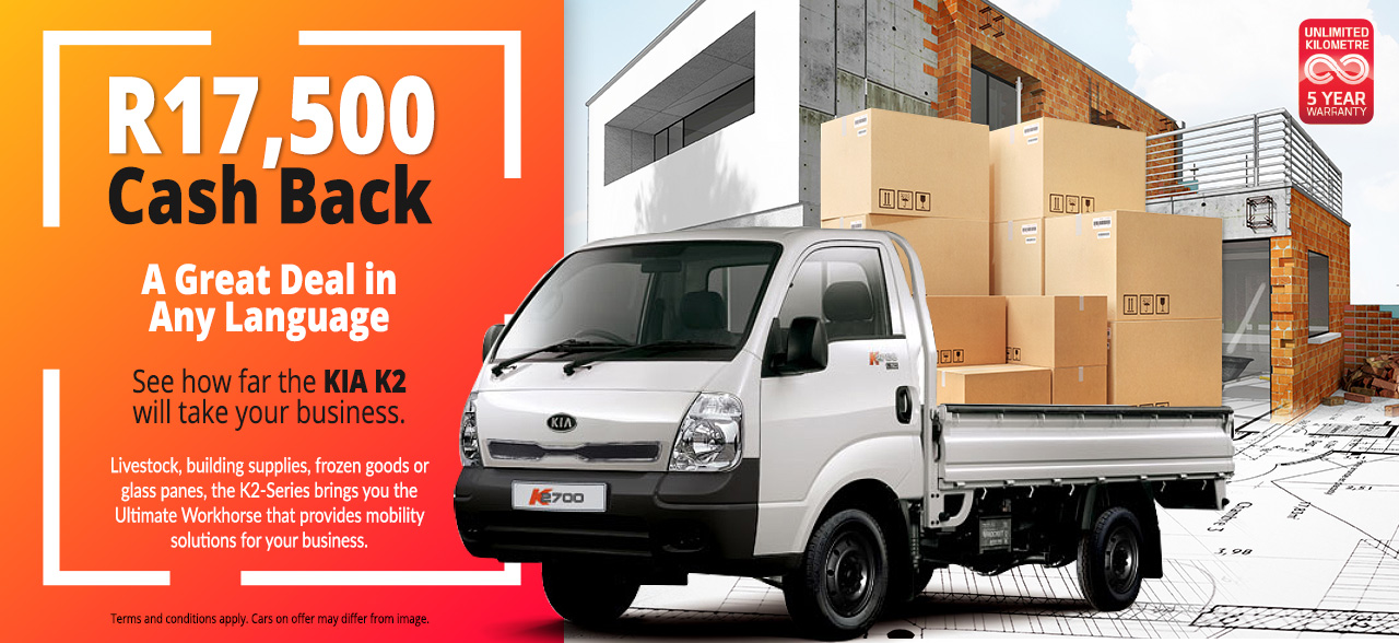 See how far the K2-Series will take your business with R17,500 Cash Back