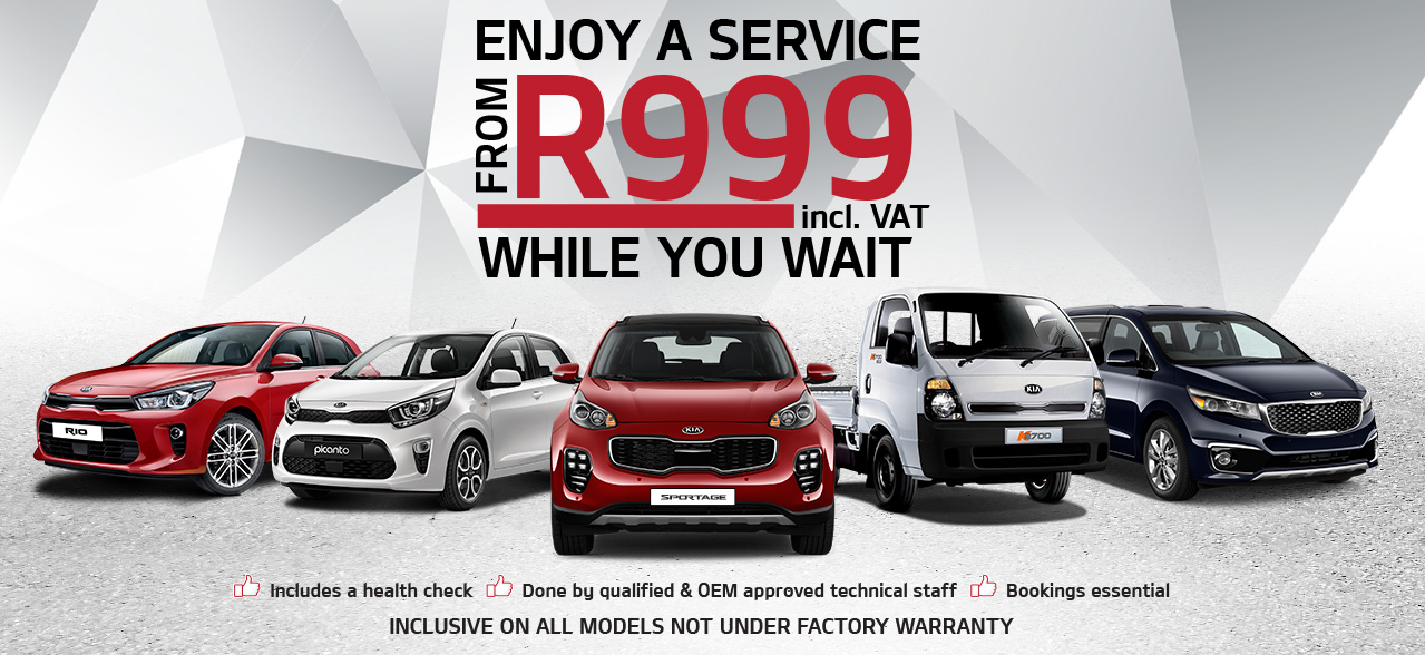 Enjoy a Service from R999 from Kia Select