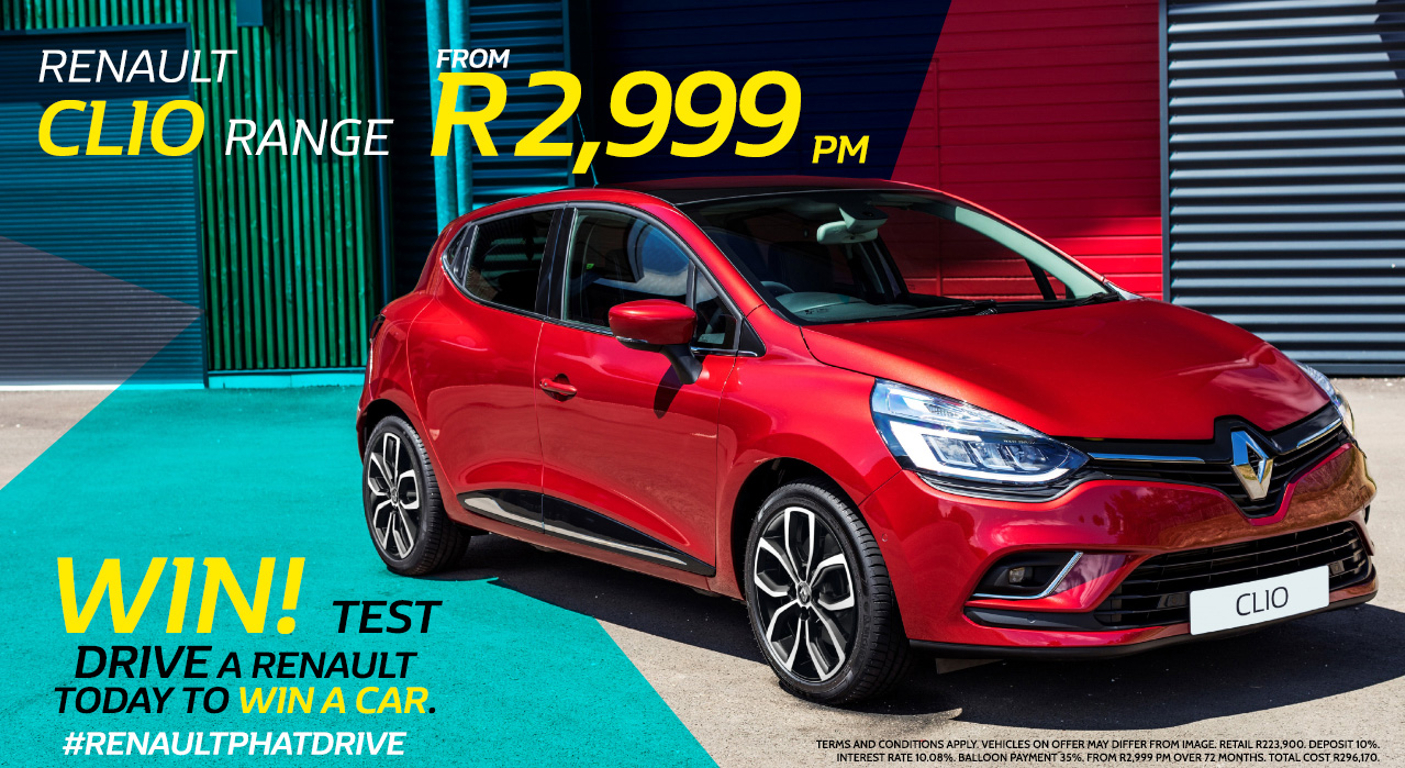 Renault Clio Range from R2,999 pm*
