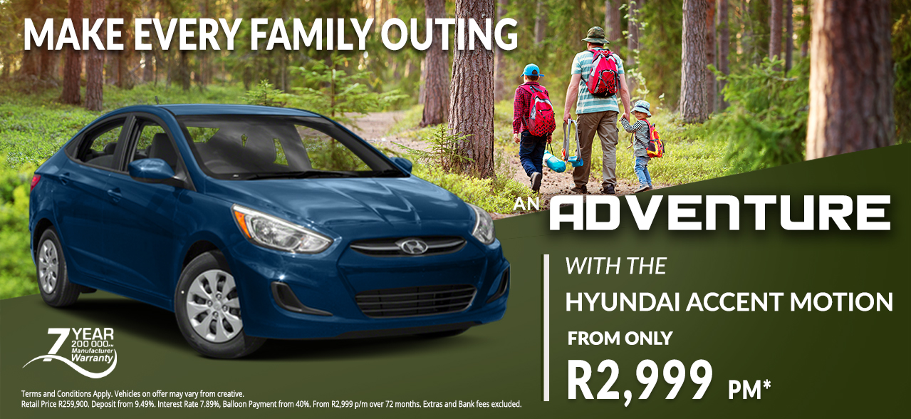 Hyundai Accent Motion from R2,999 pm*