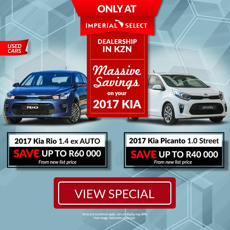 2017 Kia Rio 1.4 EX A/T   2017 Kia Picanto 1.0 Street   Save up to R60 000