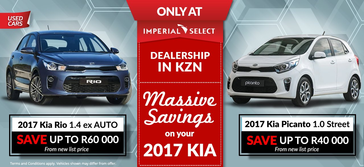 2017 Kia Rio 1.4 EX A/T | 2017 Kia Picanto 1.0 Street | Save up to R60 000