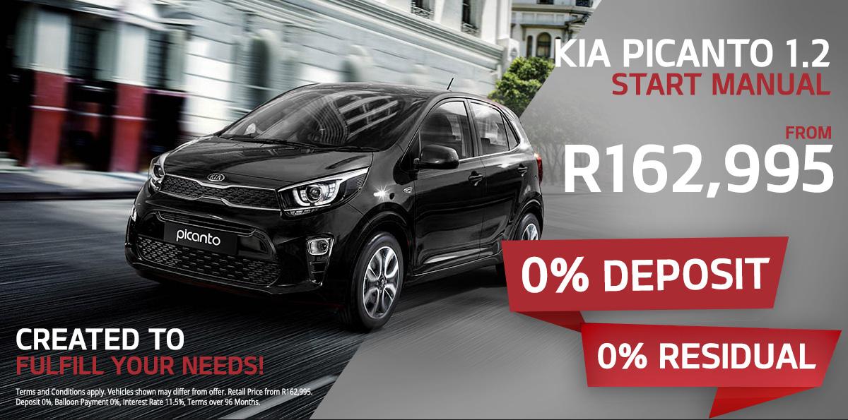 Kia Picanto 1.2 Start Manual from R162,995 | 0% Deposit | 0% Residual