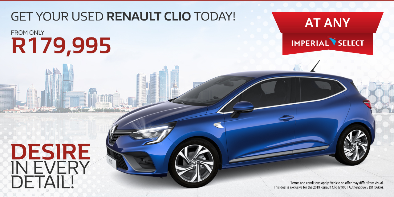 Get your Used Renault Clio today! From Only R179,995