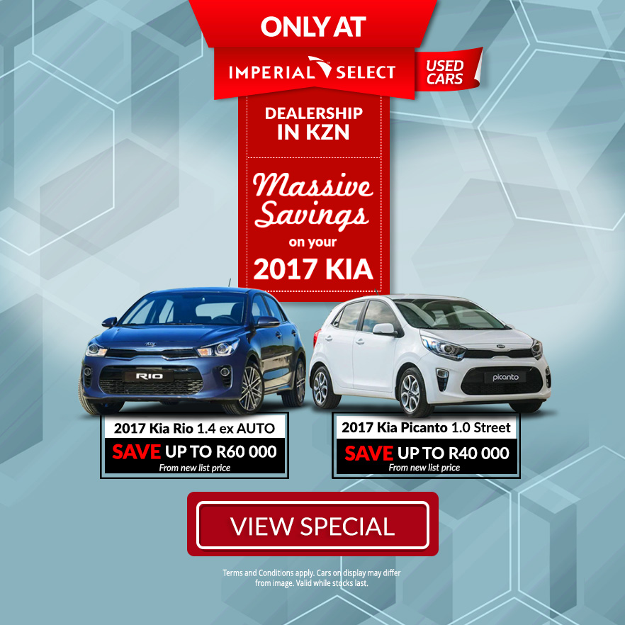 2017 Kia Rio 1.4 EX A/T | 2017 Kia Picanto 1.0 Street | Save up to R60 000