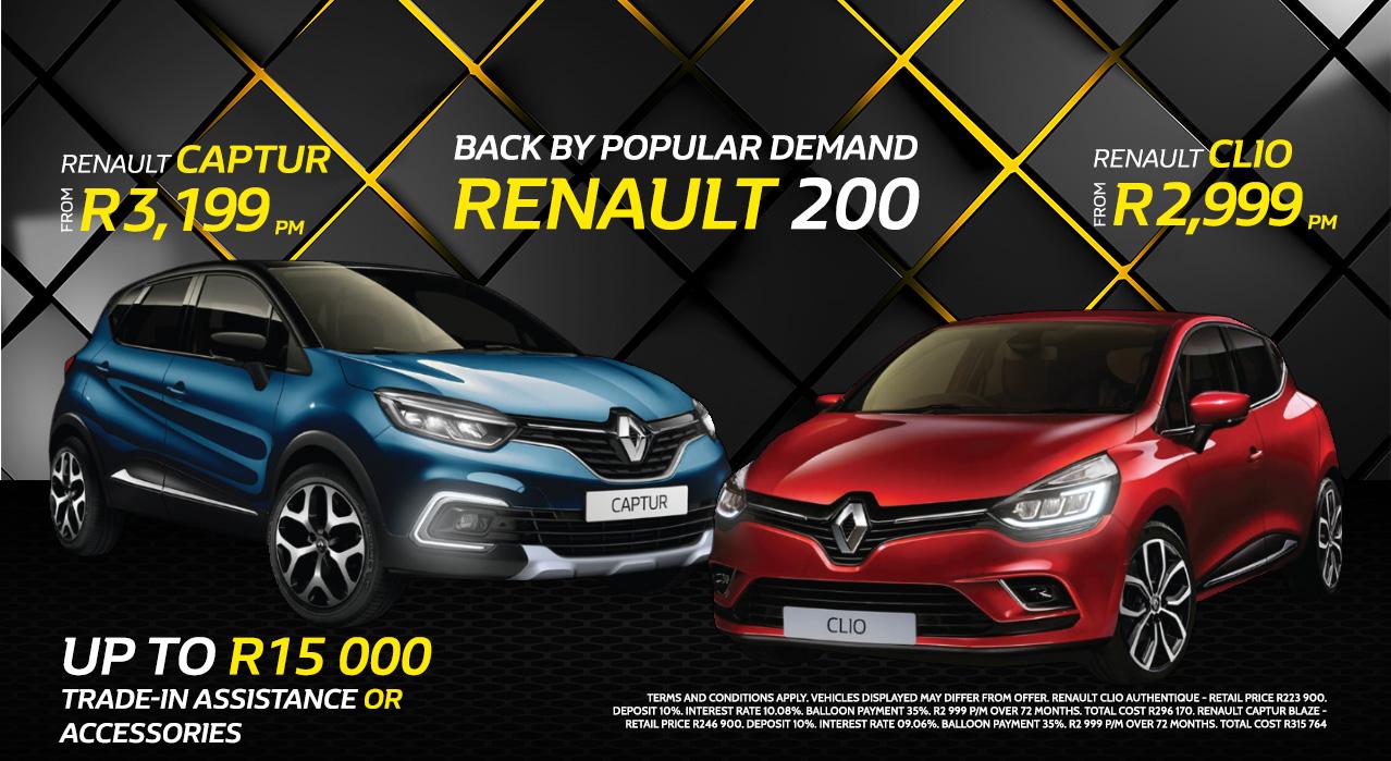 BACK BY POPULAR DEMAND! Renault 200
