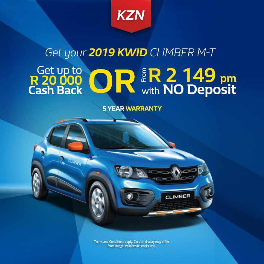 Get your Used 2019 Kwid Climber M/T from only R153 500.00