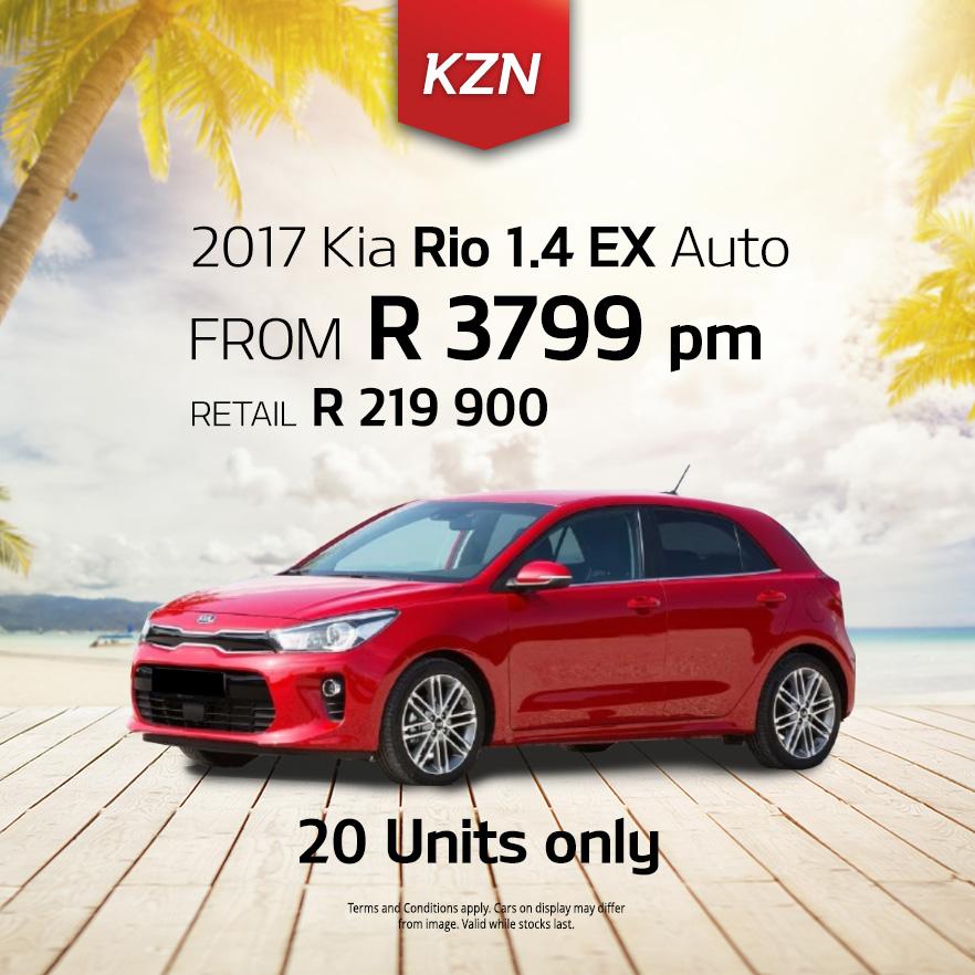 2017 KIA Rio 1.4 EX Auto from R3 799pm*