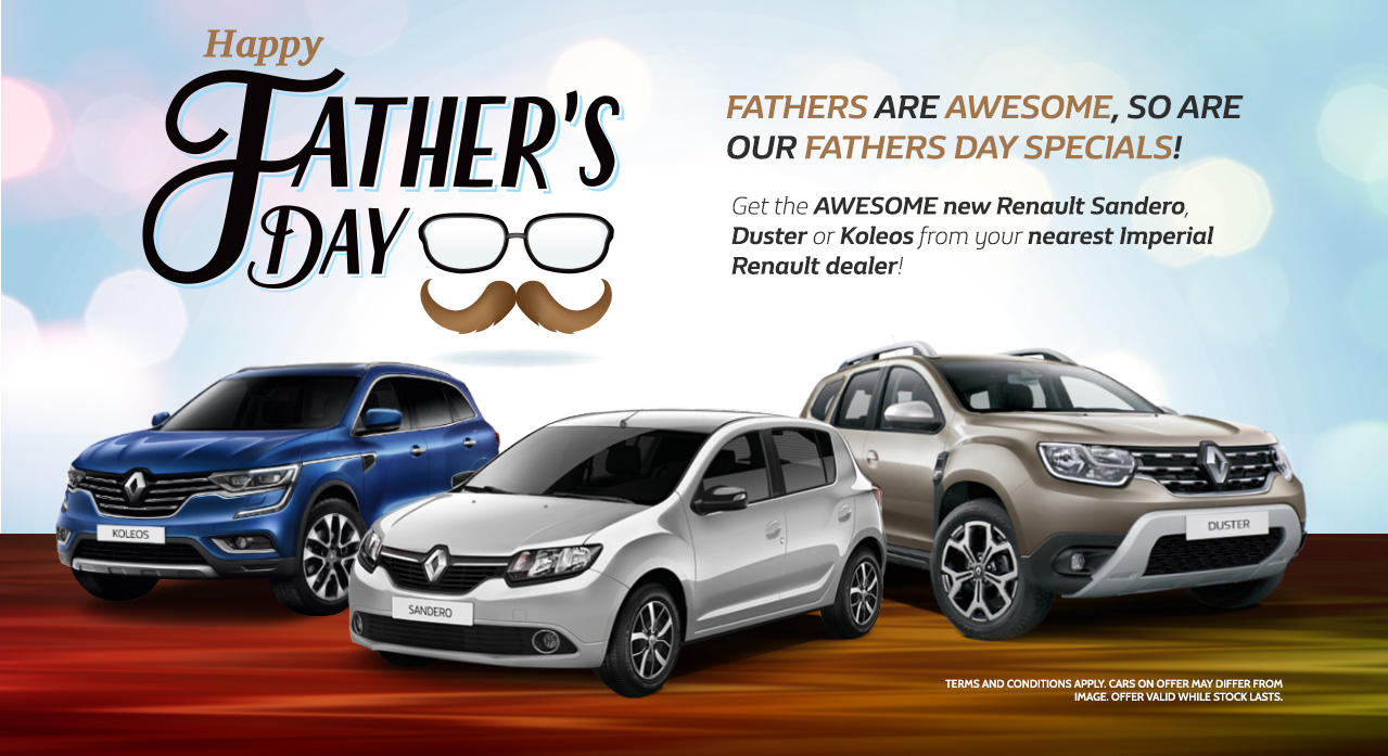 Get the awesome new Renault Sandero, Duster or Koleos from your nearest Imperial Renault dealer!