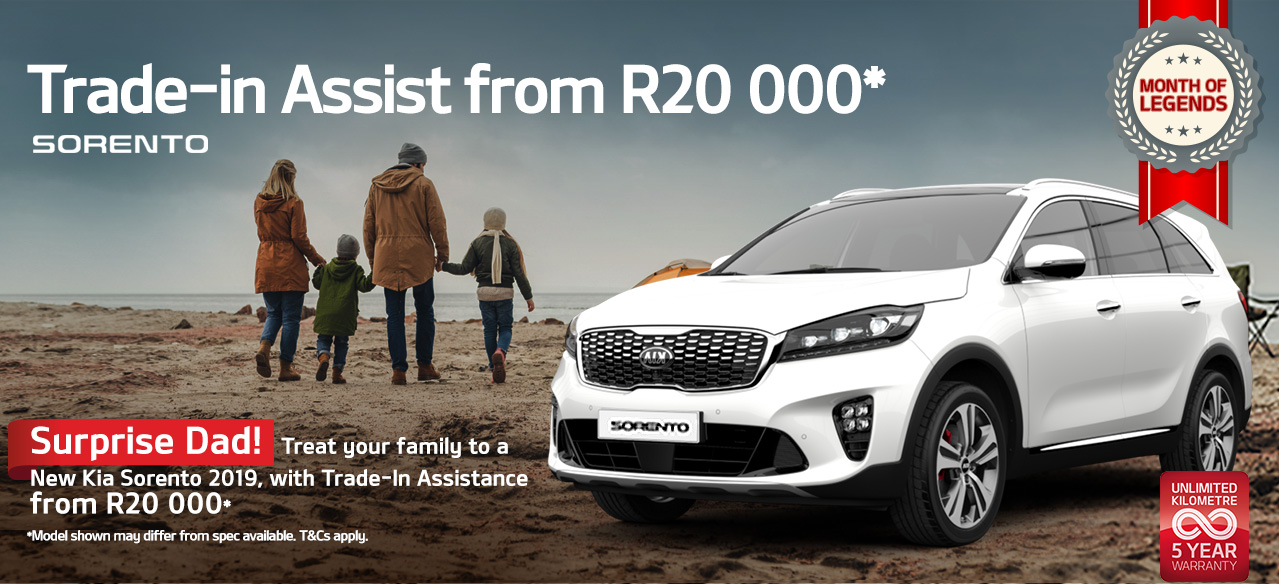 Get an astounding KIA Sedona or Sorento this Father's Day and drive like a legend!