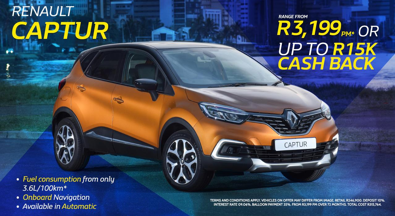 Renault Captur Range from R3,199 pm*