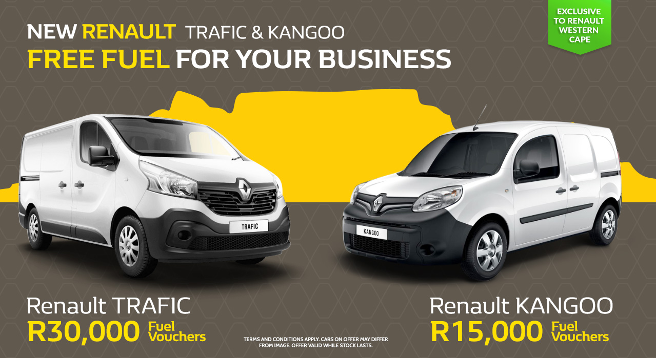 The New Renault Trafic and Kangoo | FREE Fuel for your Business