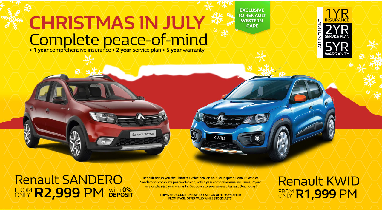 Christmas in July with the Renault  Sandero and Renault Kwid
