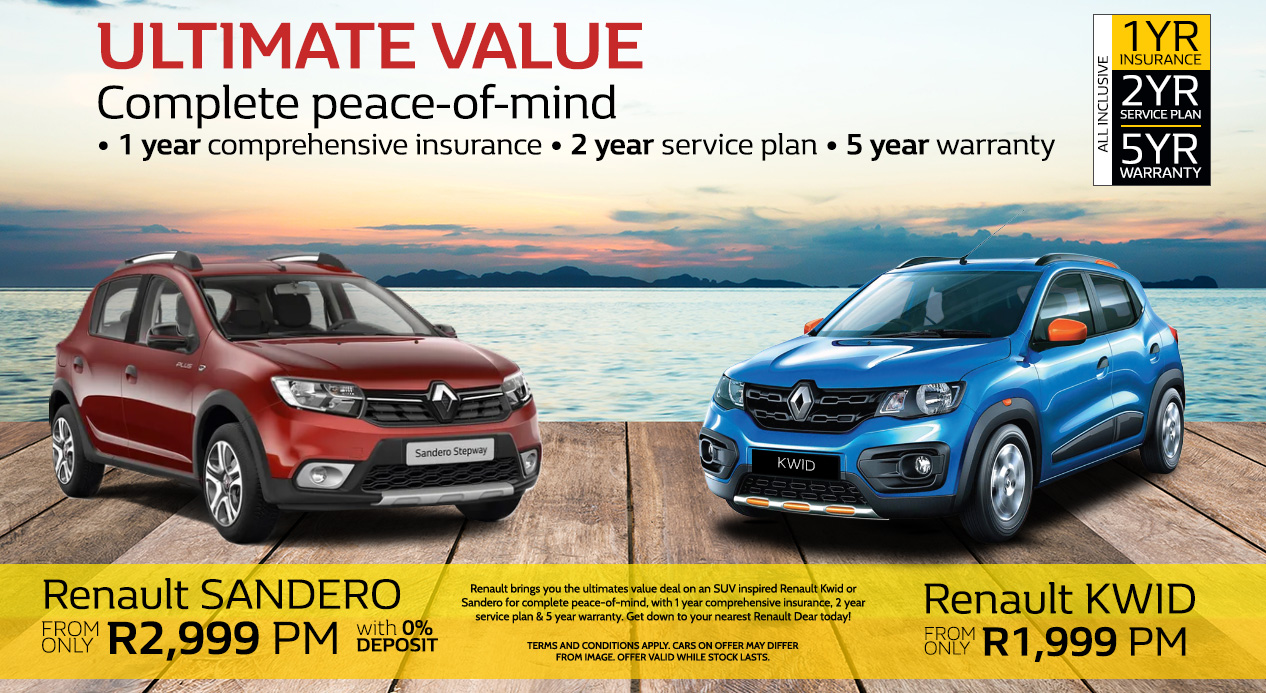 Ultimate Value with the Renault Sandero and Kwid