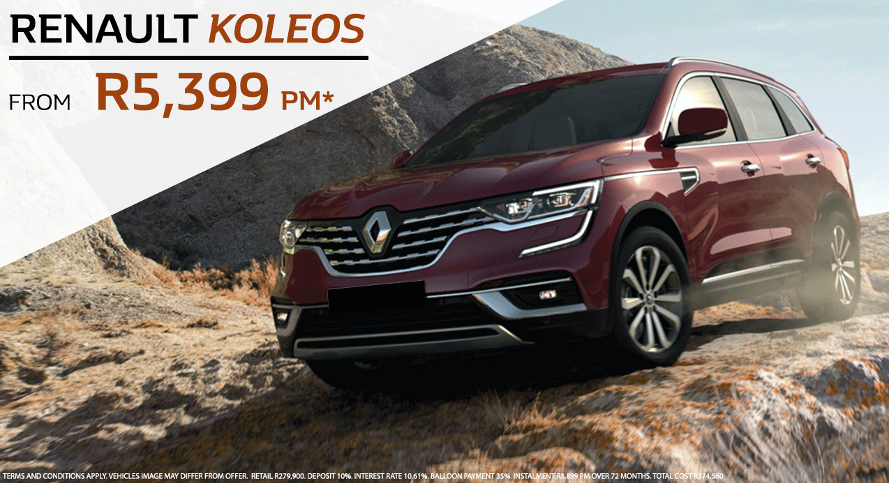 Renault Koleos From R5,399 PM*