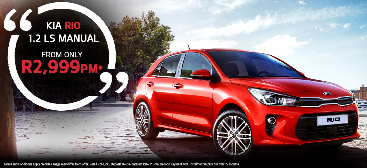 Kia Rio 1.2 LS Manual From R2,999 PM*