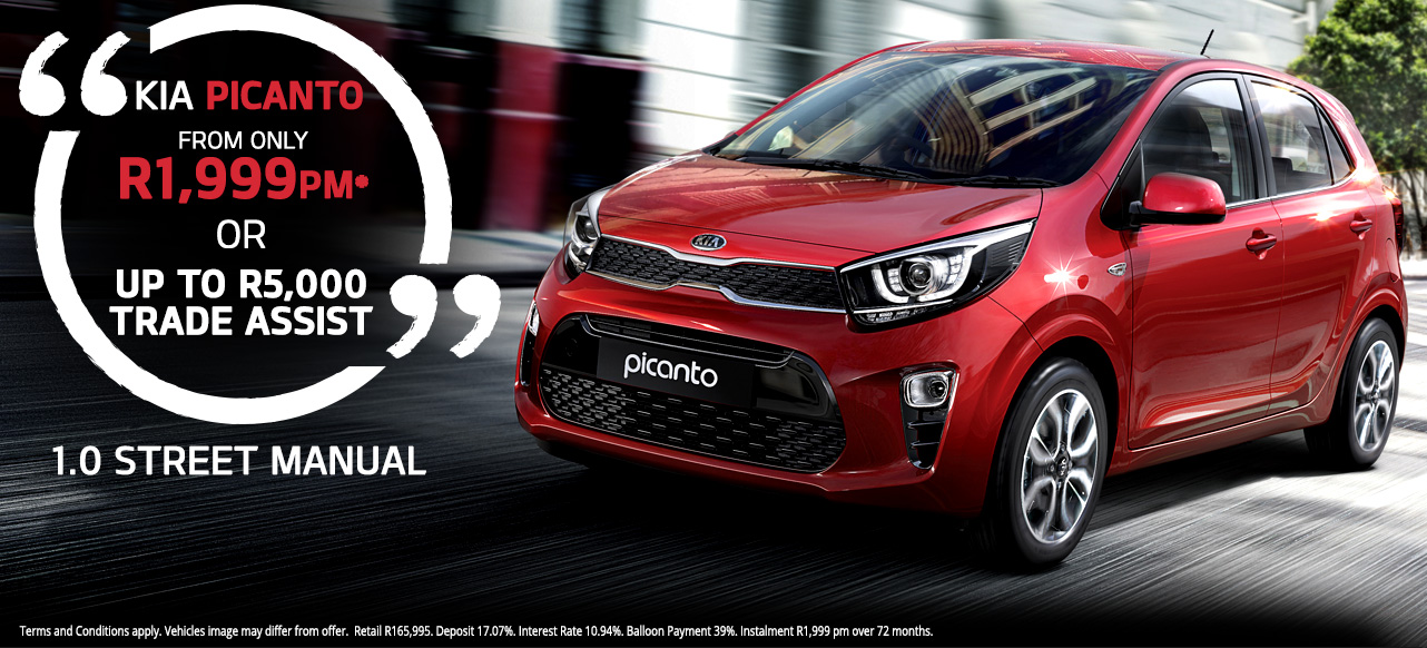 KIA Picanto 1.0 Street Manual From R1,999 PM* Or  Up to R5 000 Deal Assist