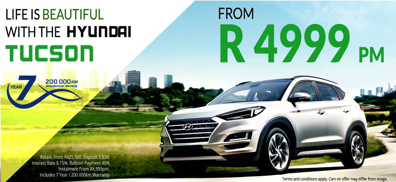 Life is Beautiful with the Hyundai Tucson From R4 999 pm