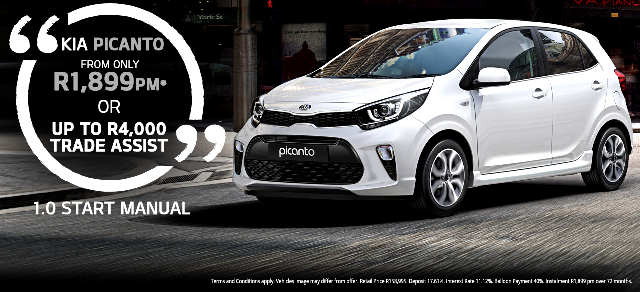 KIA Picanto 1.0 Start Manual From R1,899 PM* Or  Up to R4 000 Deal Assist