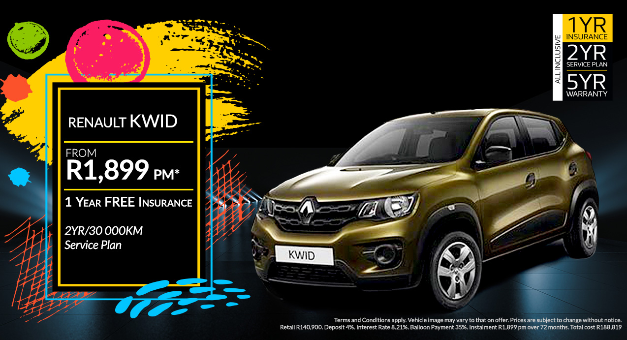 Renault Kwid From R1,899 PM*