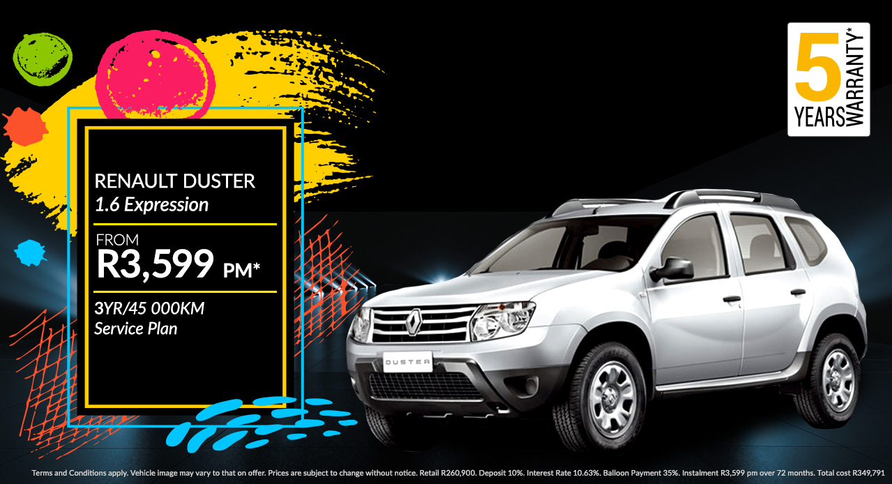 Renault Duster From R3,599 PM*
