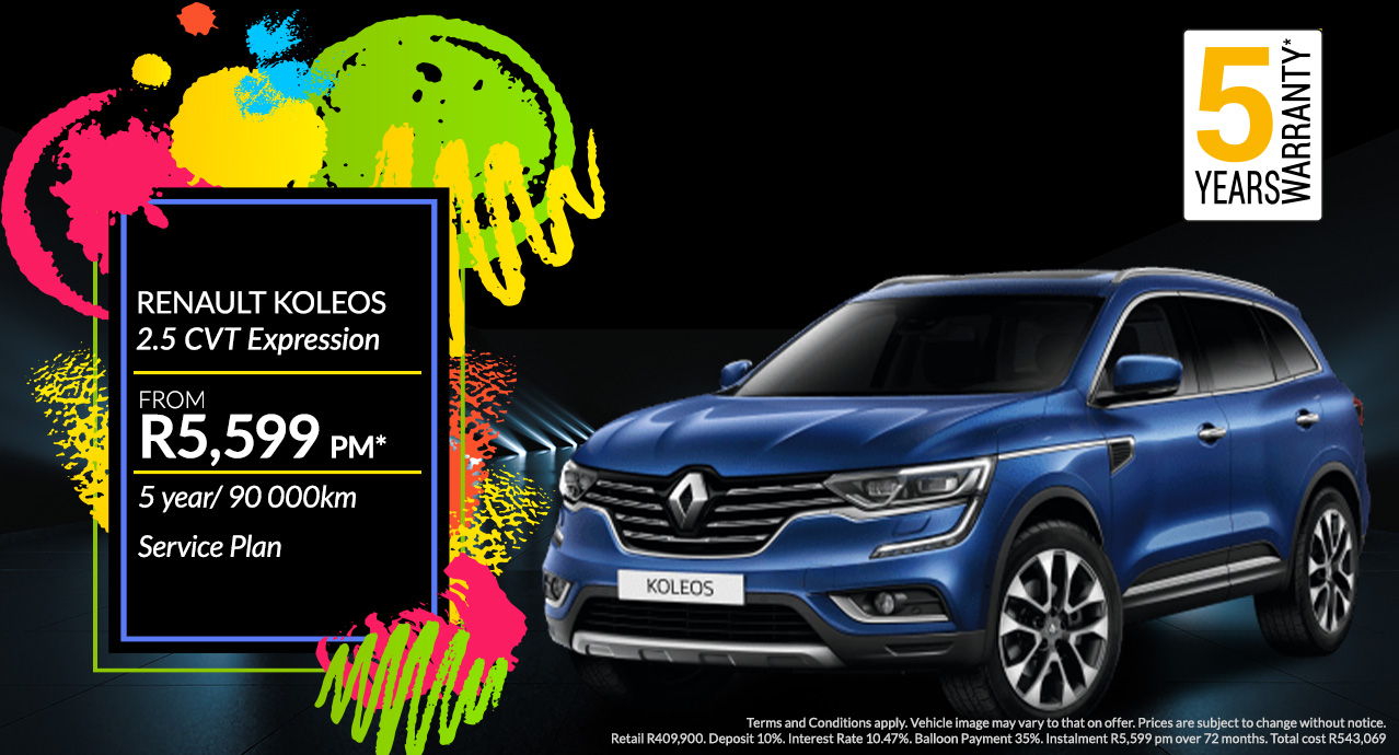 Renault Koleos From R5,599 PM*