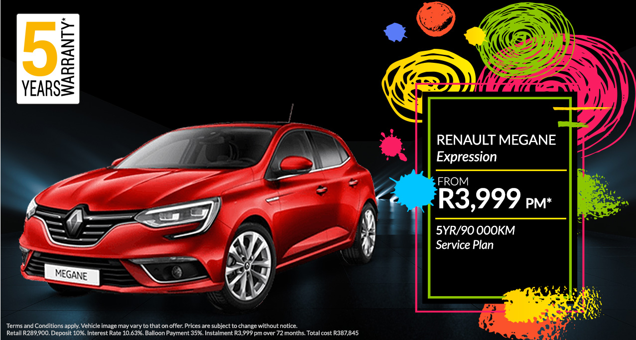 Renault Megane From R3,999 PM*
