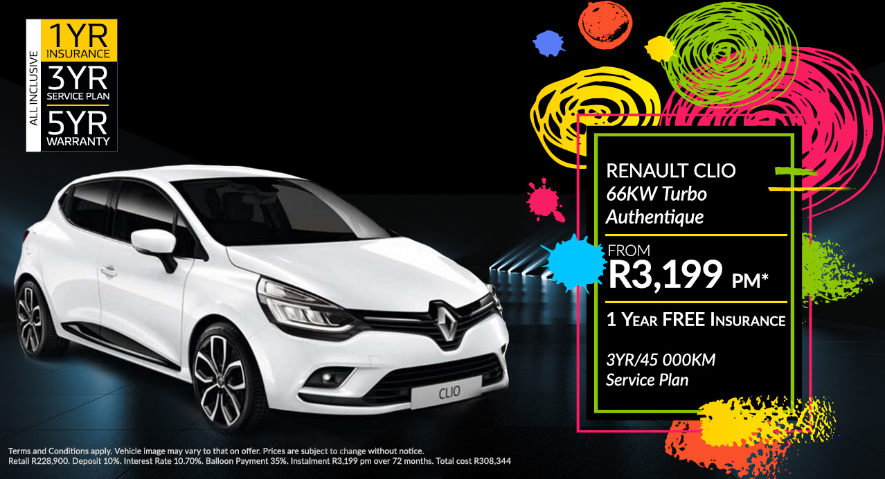 Renault Clio From R3,199 PM*