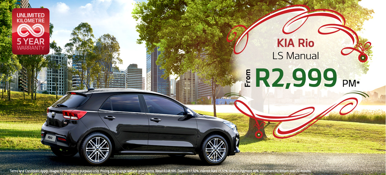 Rio 1.2 LS From R2,999 PM*