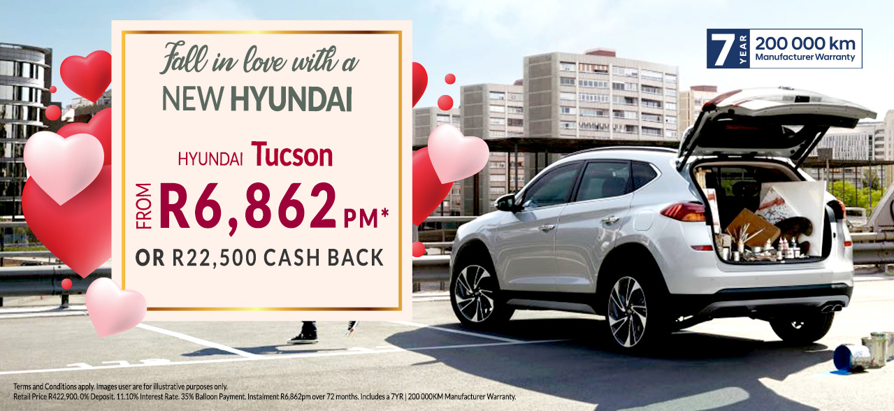 The Hyundai Tucson from R6,862PM*